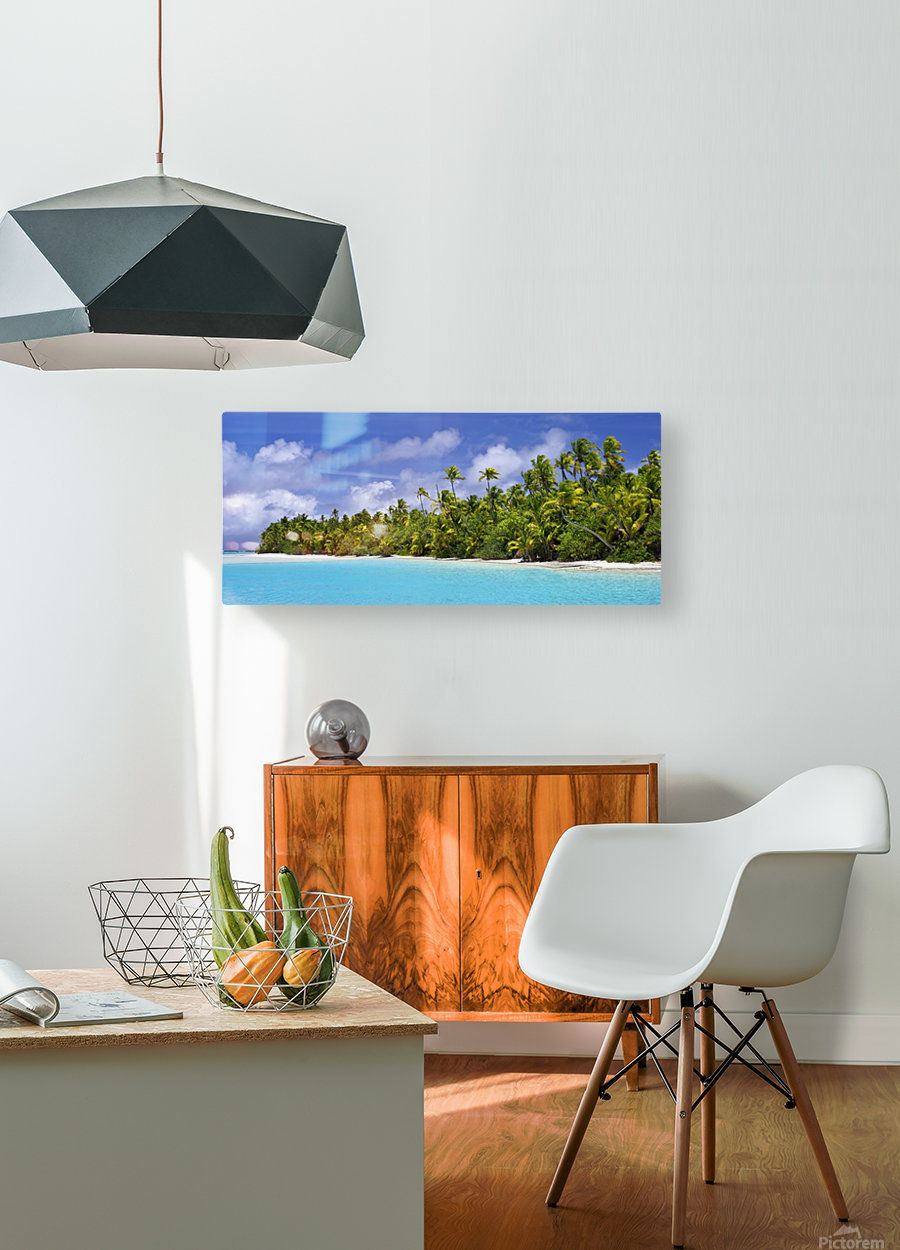 Remote island near Barefoot Island; Aitutaki, Cook Islands  HD Metal print with Floating Frame on Back