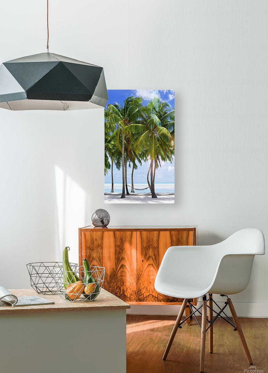Aitutaki Lagoon Resort, Aitutaki, Cook Islands  HD Metal print with Floating Frame on Back