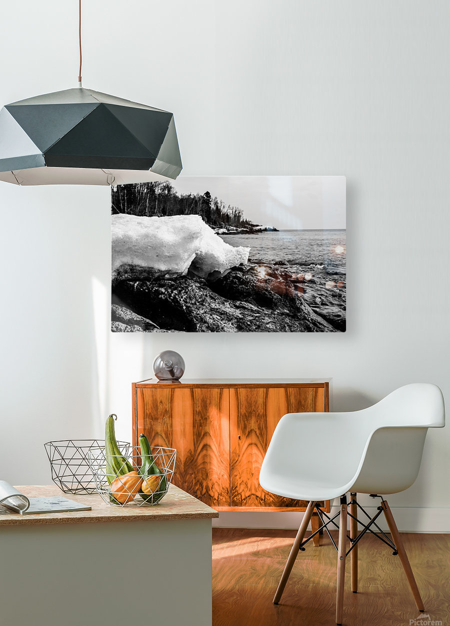 Spring Lakeshore  HD Metal print with Floating Frame on Back