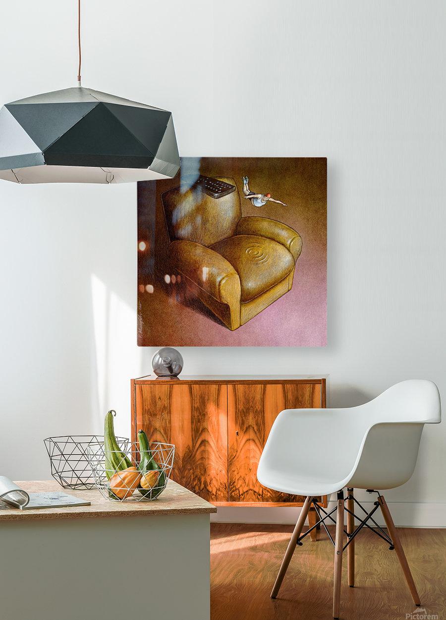 TV sport  HD Metal print with Floating Frame on Back