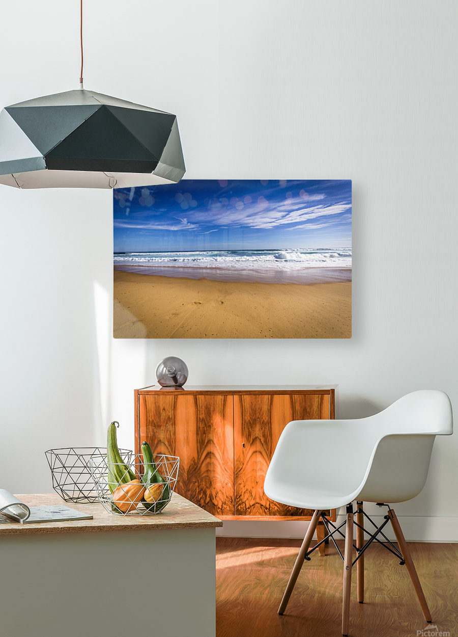 Beach  HD Metal print with Floating Frame on Back