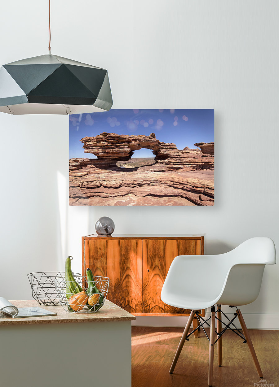 Natures Window  HD Metal print with Floating Frame on Back