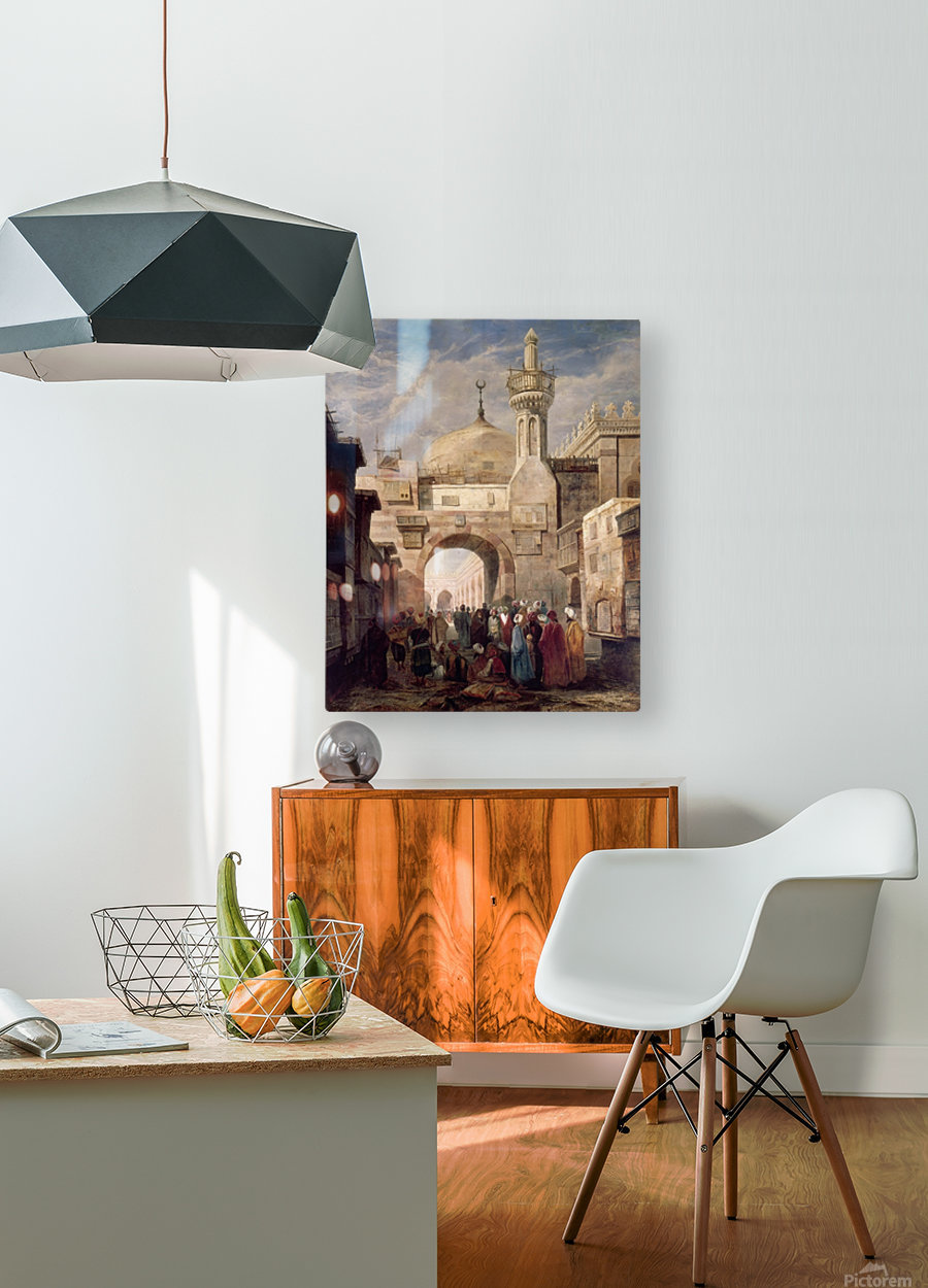 Mosque of Al Azhar in Cairo  HD Metal print with Floating Frame on Back