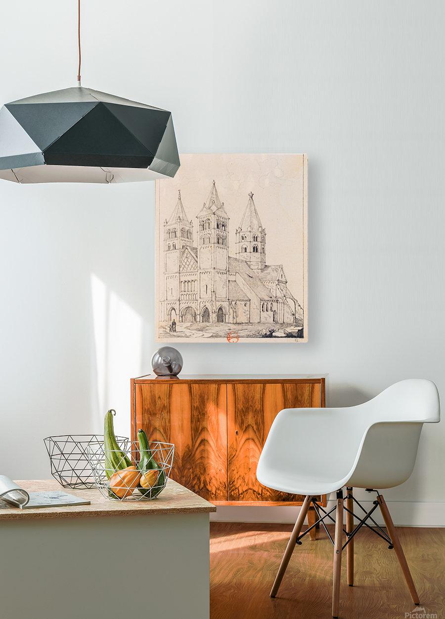 Eglise de Guebwiller  HD Metal print with Floating Frame on Back