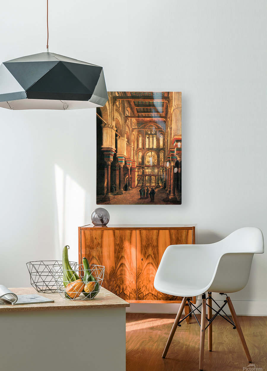 Interieur de la mosquee du Mourestan  HD Metal print with Floating Frame on Back