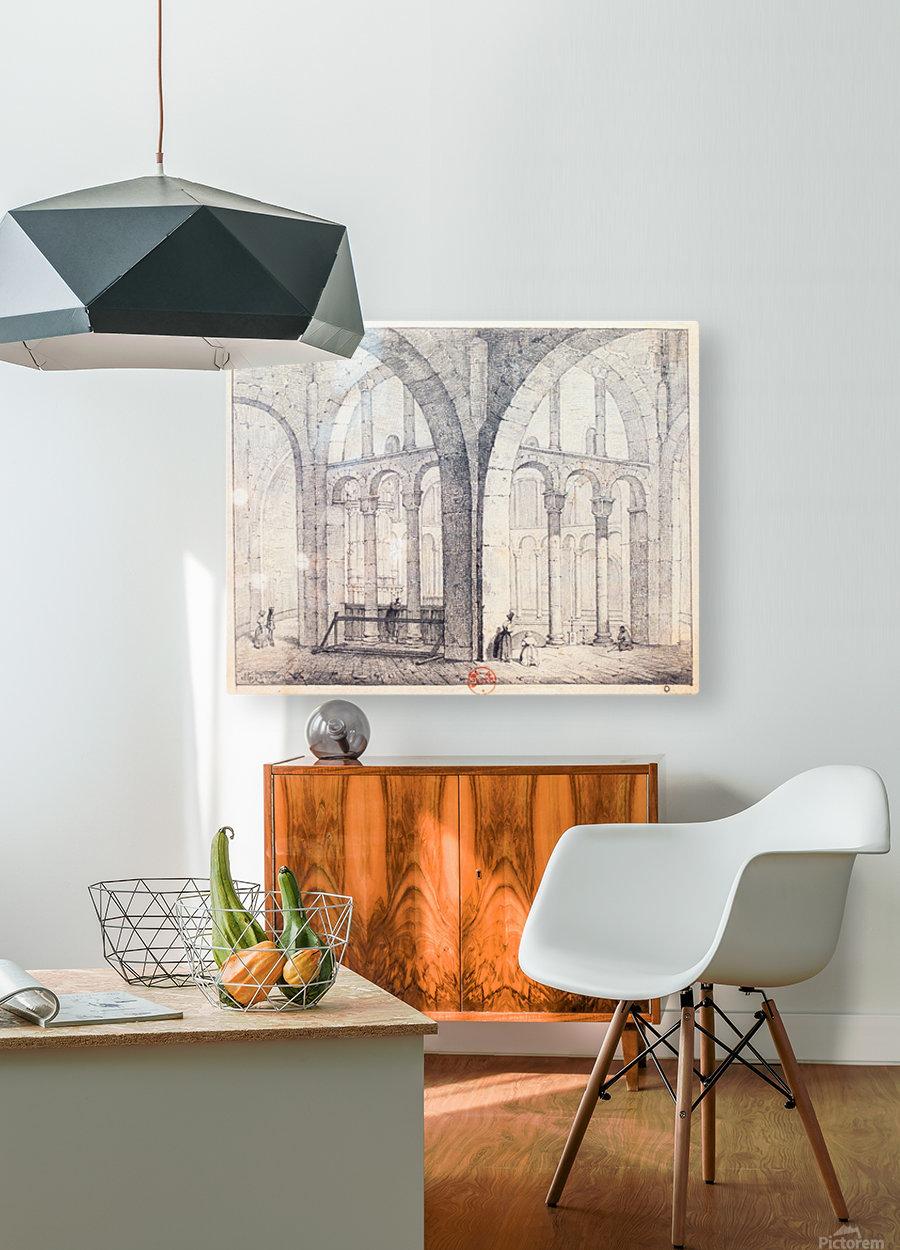 Octogone d'Ottmarsheim  HD Metal print with Floating Frame on Back