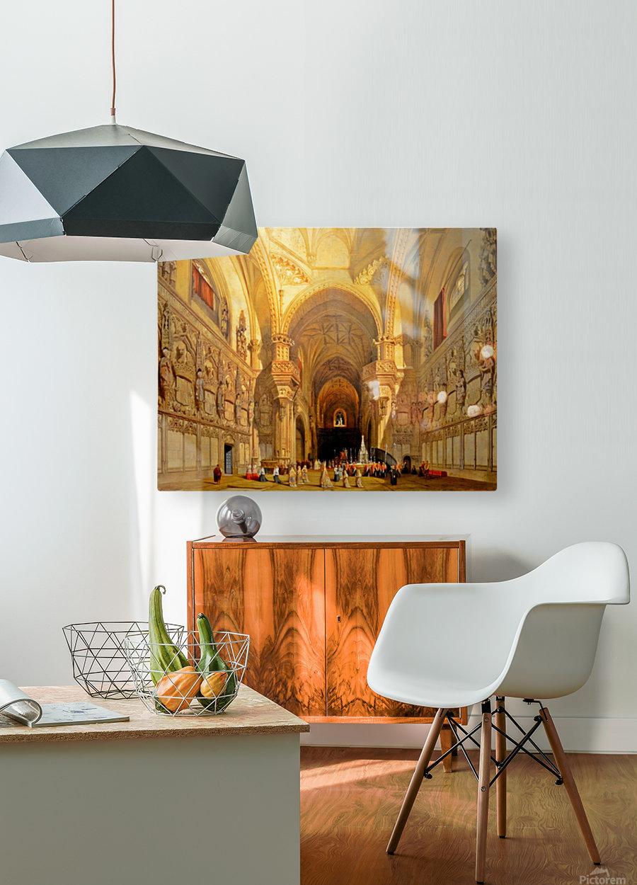 Interieur de la cathedrale Saint-Jean-des-Rois de Tolede  HD Metal print with Floating Frame on Back