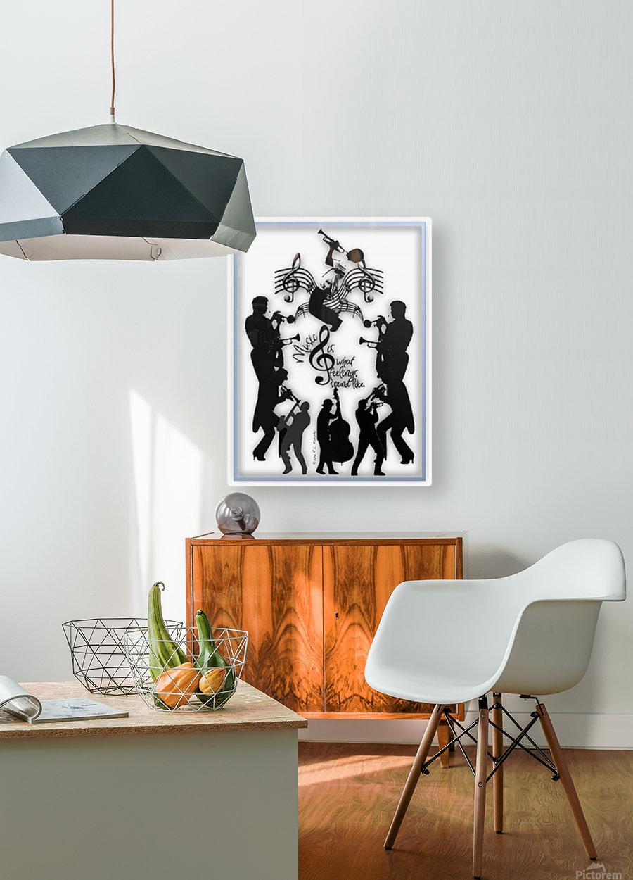 Music Feelings  HD Metal print with Floating Frame on Back
