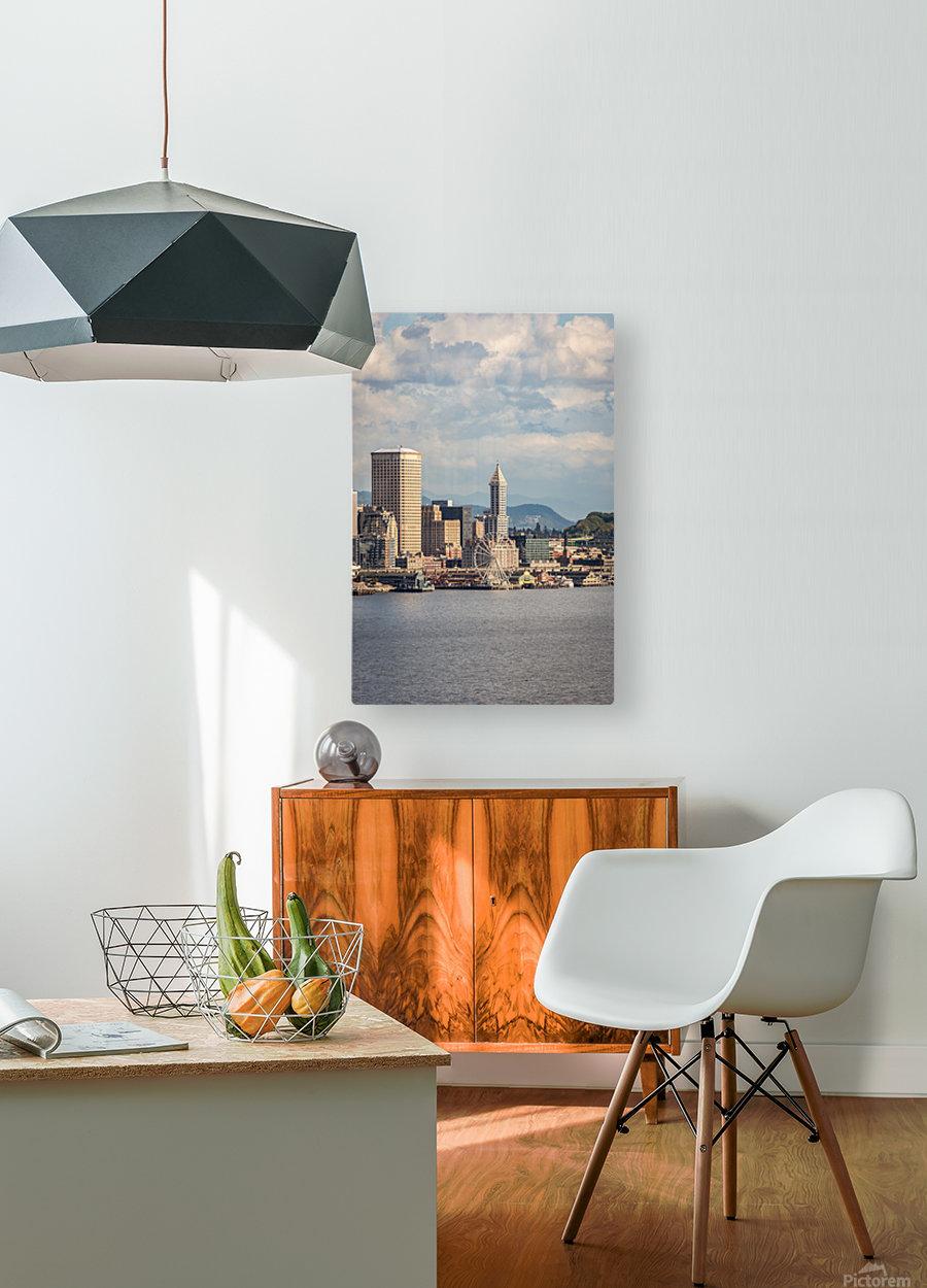 Weel  HD Metal print with Floating Frame on Back