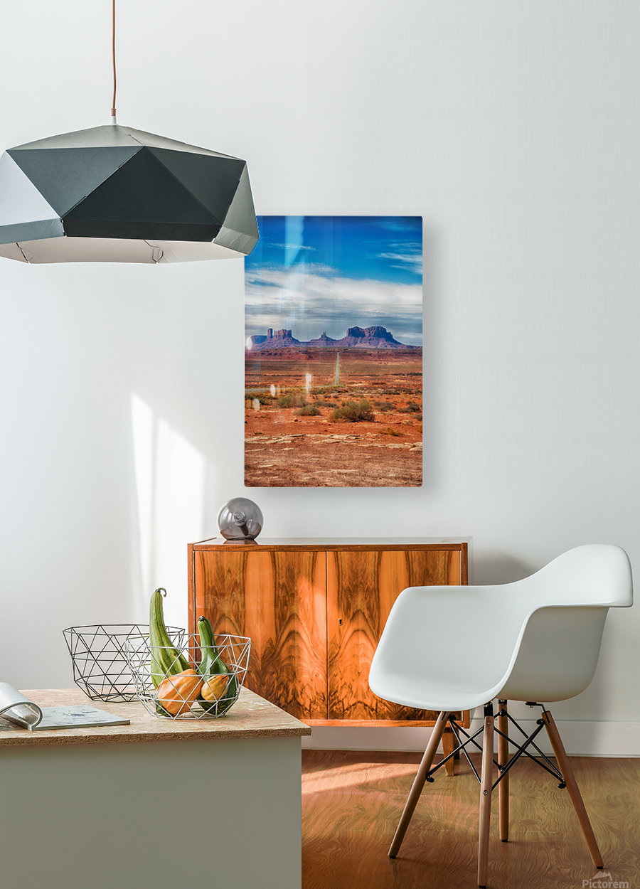 Monument Valley 1  HD Metal print with Floating Frame on Back