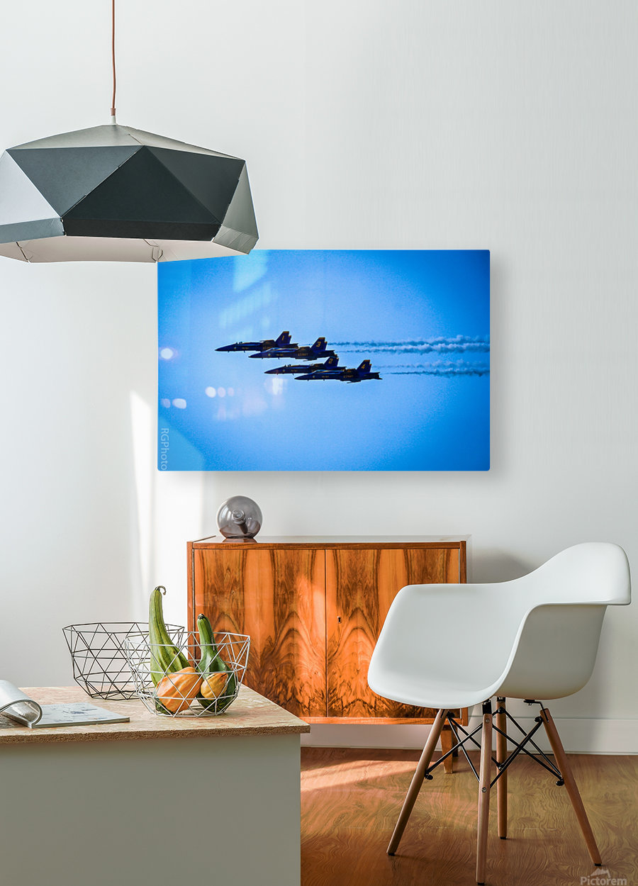 Flight Pattern  HD Metal print with Floating Frame on Back