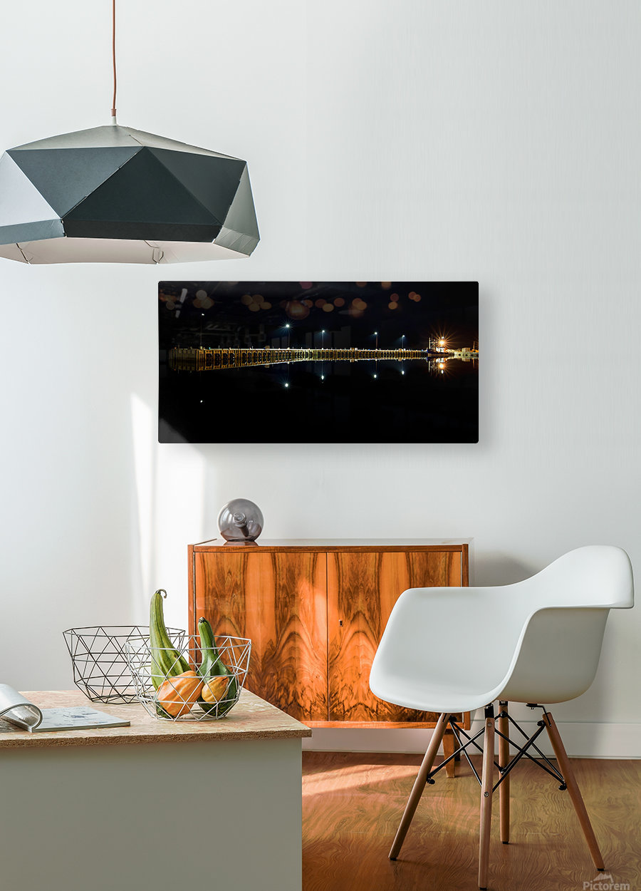 Nighttime at la Digue  HD Metal print with Floating Frame on Back