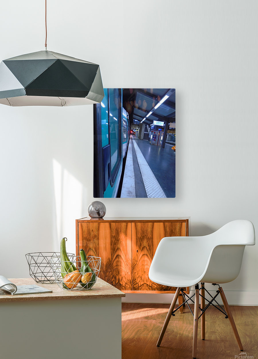 Paris metro  HD Metal print with Floating Frame on Back