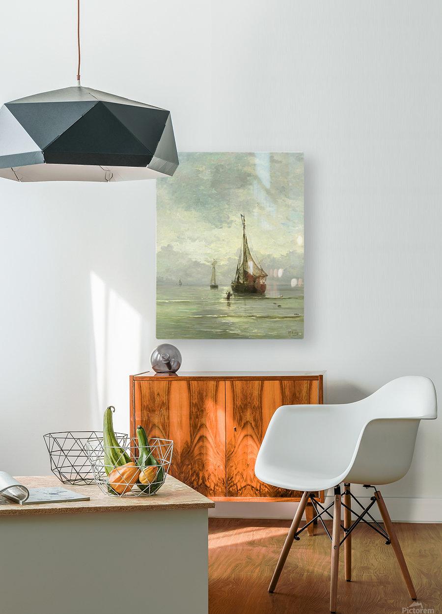 Kalme zee  HD Metal print with Floating Frame on Back