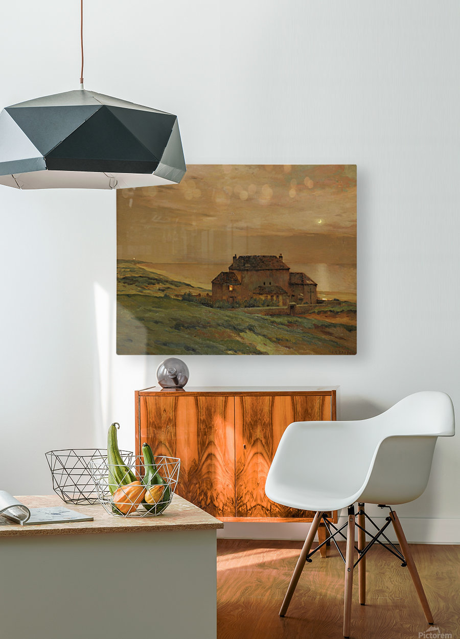 A castle  HD Metal print with Floating Frame on Back