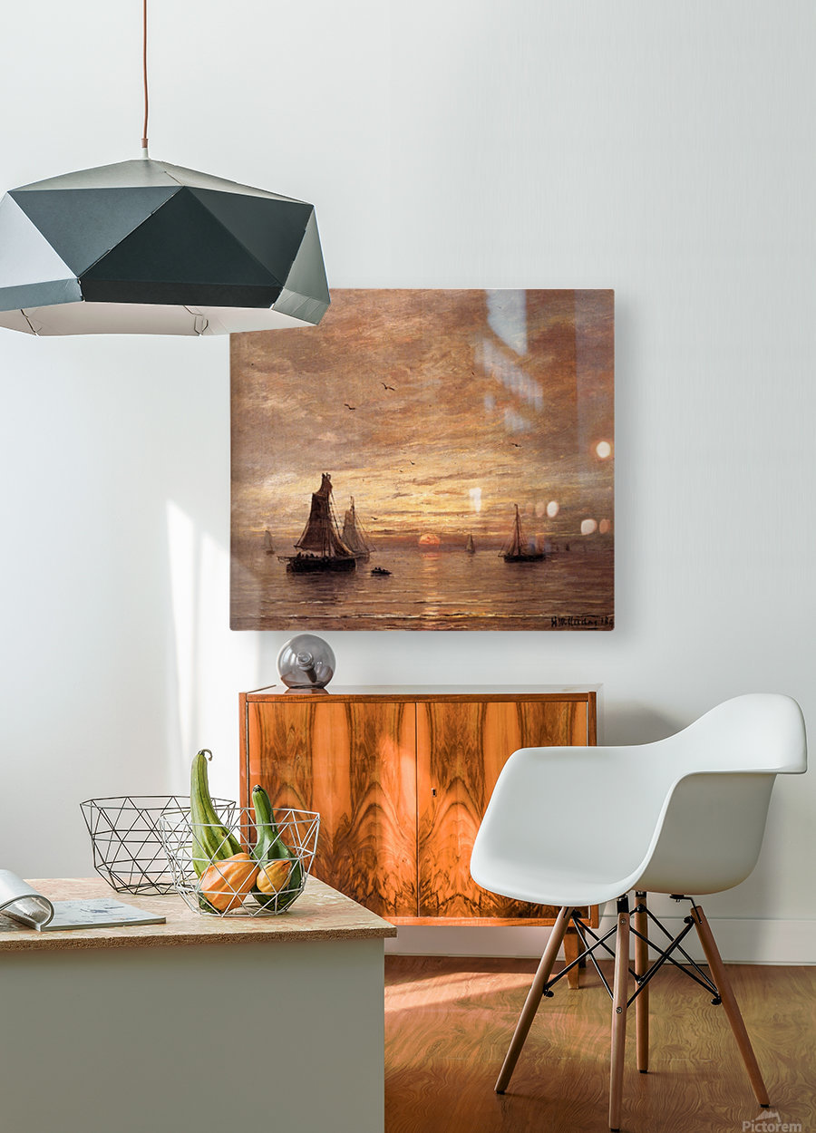 Coucher de Soleil  HD Metal print with Floating Frame on Back