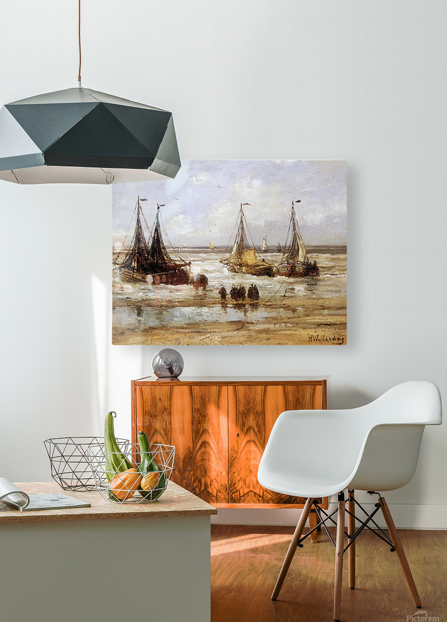 Arrival Of The Fleet Sun  HD Metal print with Floating Frame on Back