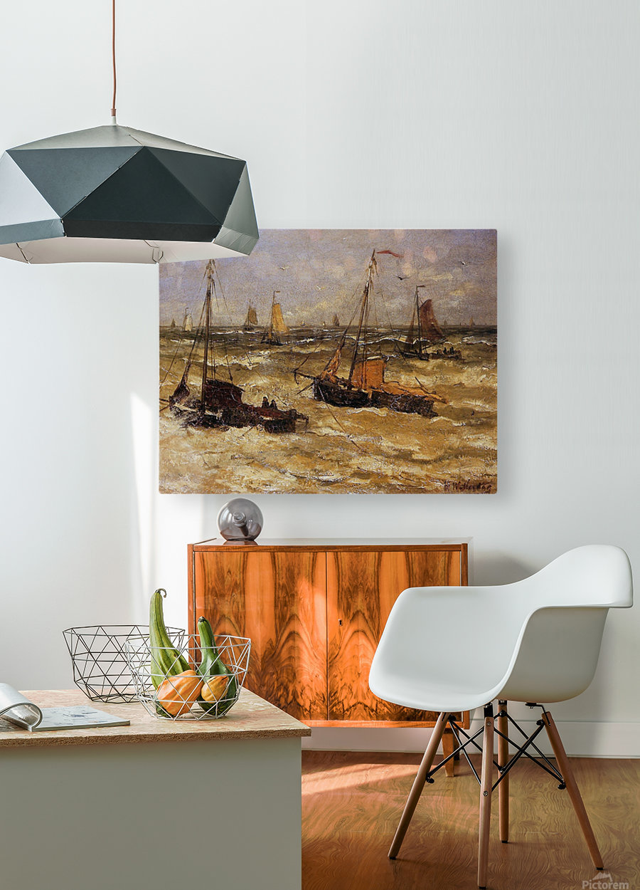 Ships For Anchor Sun  HD Metal print with Floating Frame on Back