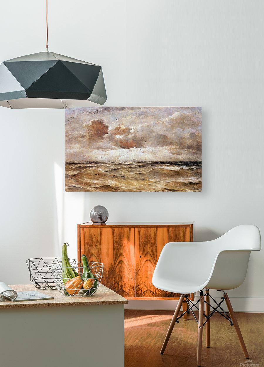 La Mer du Nord Sun  HD Metal print with Floating Frame on Back