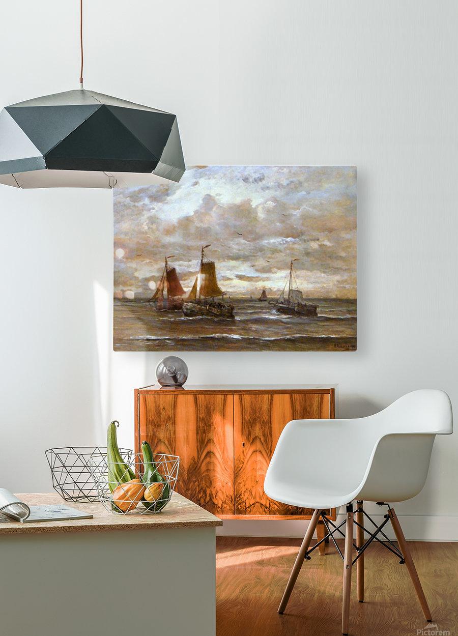 Zonsondergang  HD Metal print with Floating Frame on Back