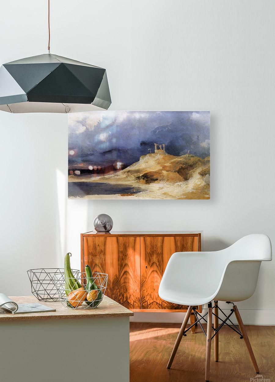 Galgenberg bei Gewitterstimmung  HD Metal print with Floating Frame on Back