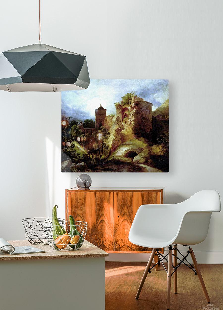 A deserted castle  HD Metal print with Floating Frame on Back