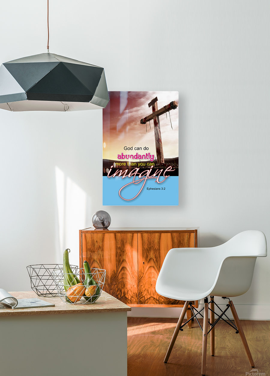 GOD CAN DO  HD Metal print with Floating Frame on Back