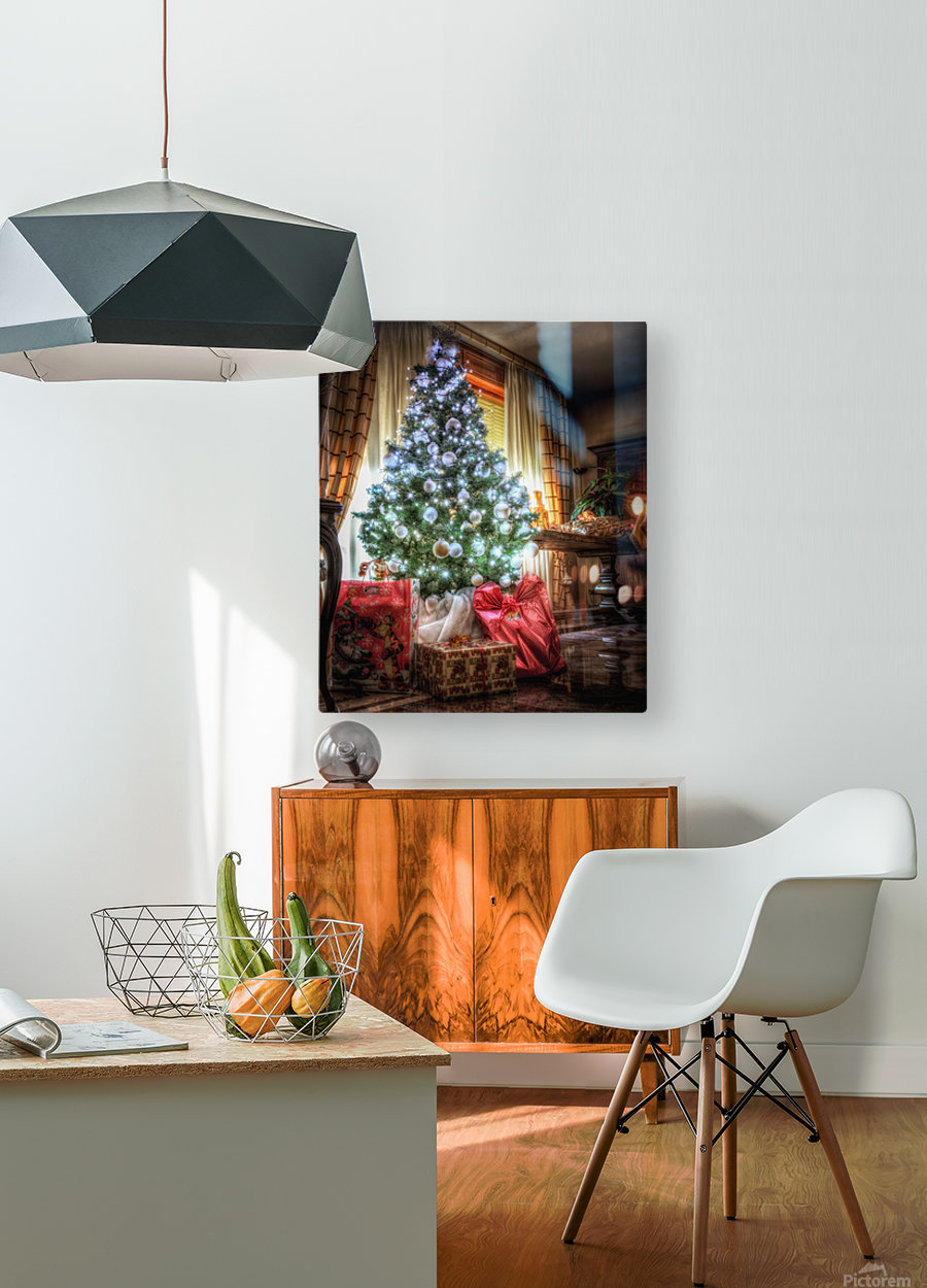Christmas Tree  HD Metal print with Floating Frame on Back