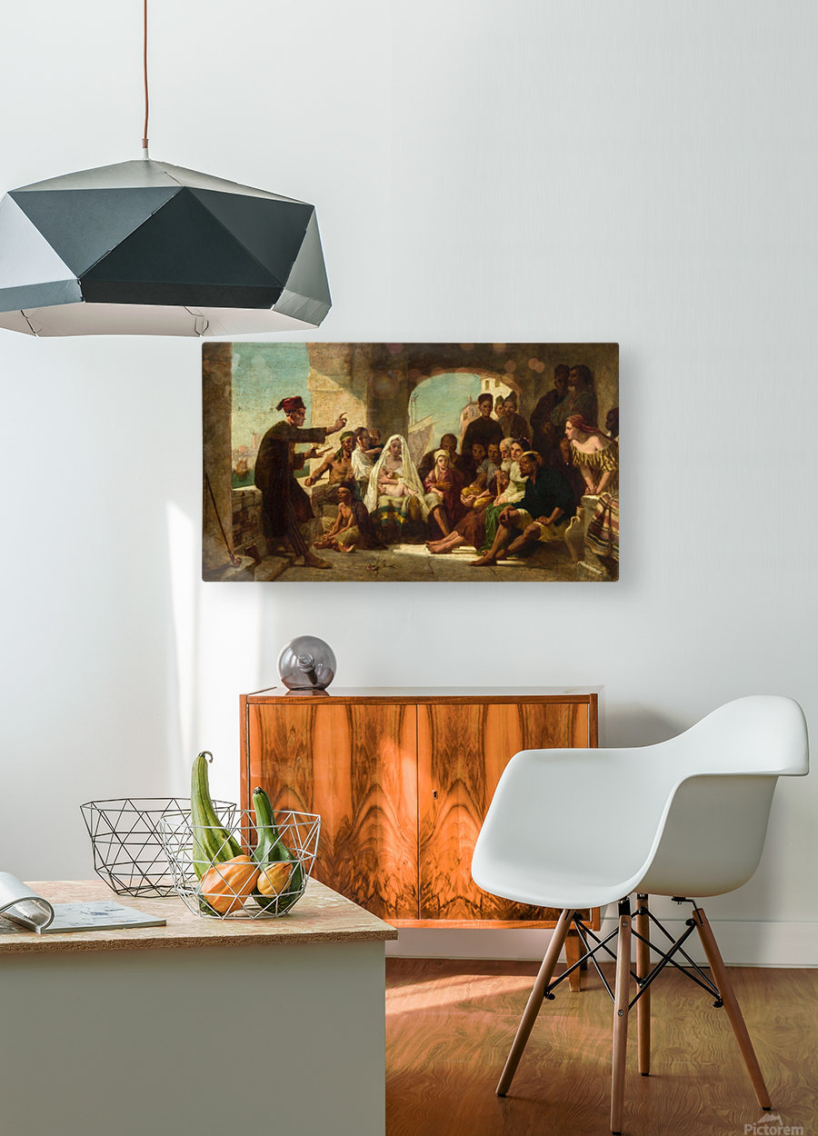Study for Felice Ballarin Reciting  HD Metal print with Floating Frame on Back