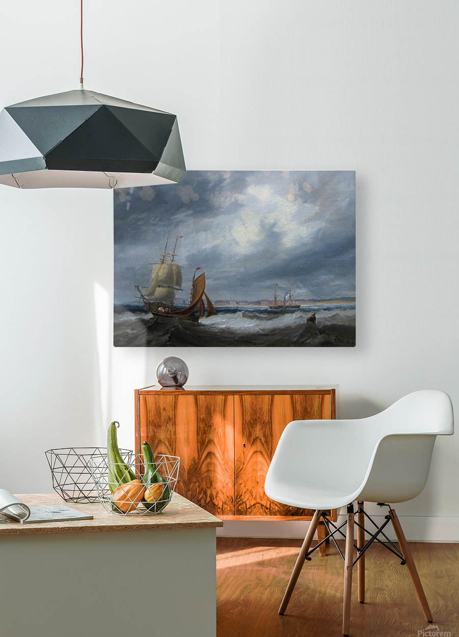 Shipping off Seaham  HD Metal print with Floating Frame on Back