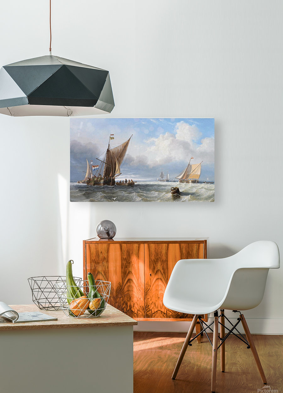 Off the Dutch Coast  HD Metal print with Floating Frame on Back