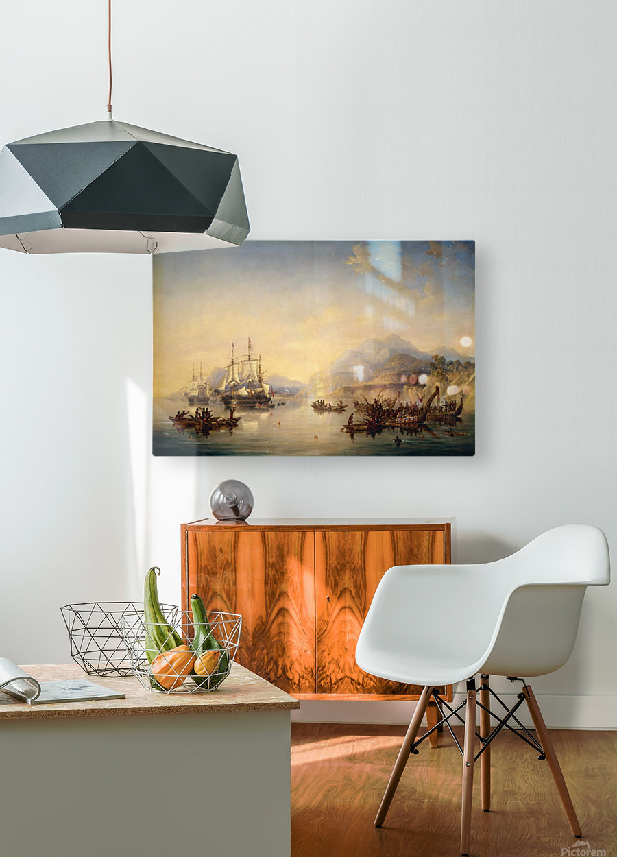 Erebus' and the 'Terror' in New Zealand  HD Metal print with Floating Frame on Back