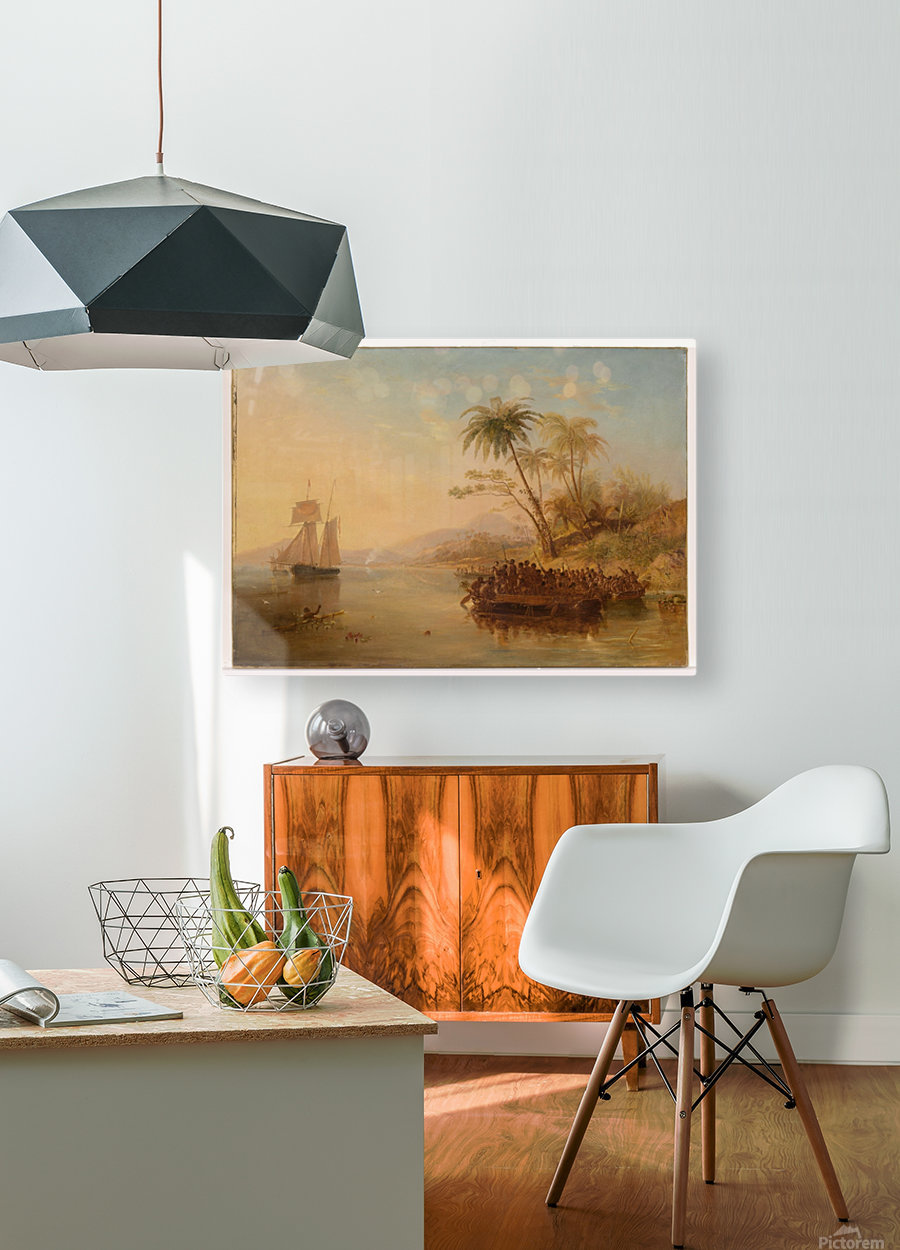 The Rescue Of William Doyly  HD Metal print with Floating Frame on Back