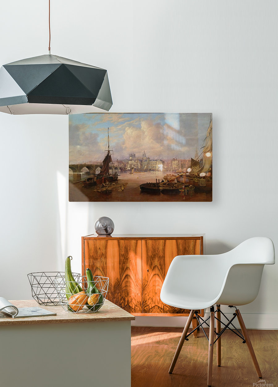 The Mayors Barge on The Tyne  HD Metal print with Floating Frame on Back