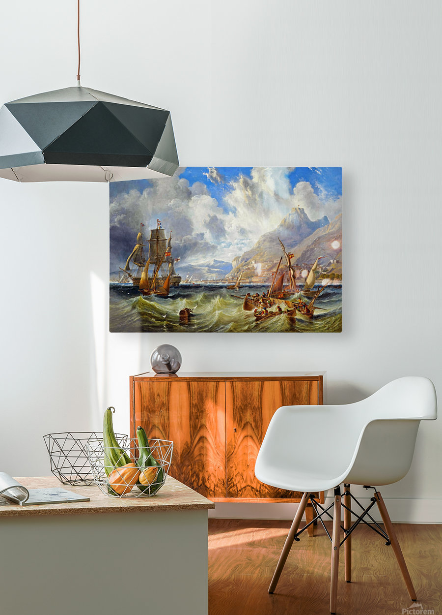 Sailing to Gibraltar  HD Metal print with Floating Frame on Back