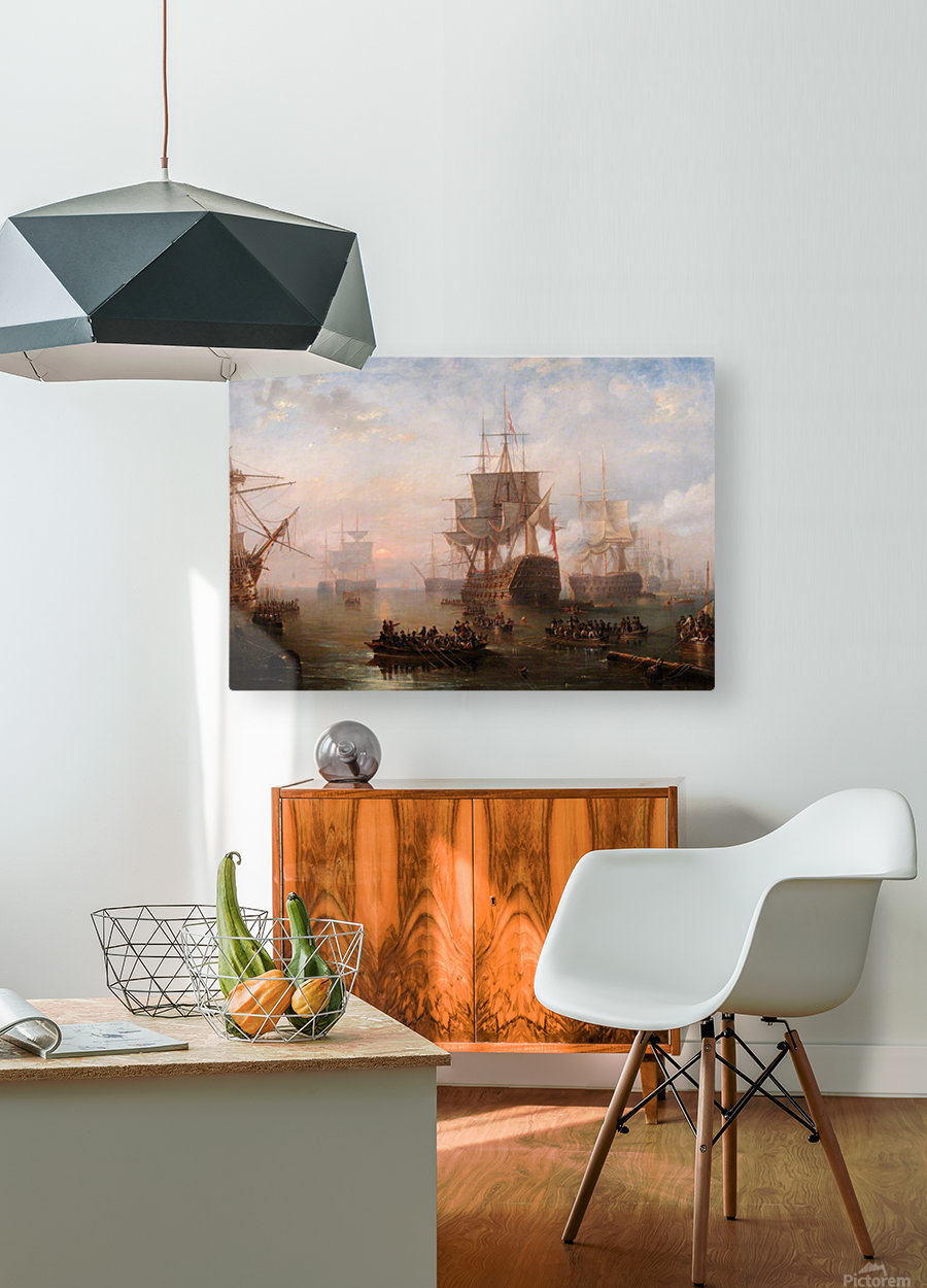 Anchored off the Isle of Wight  HD Metal print with Floating Frame on Back