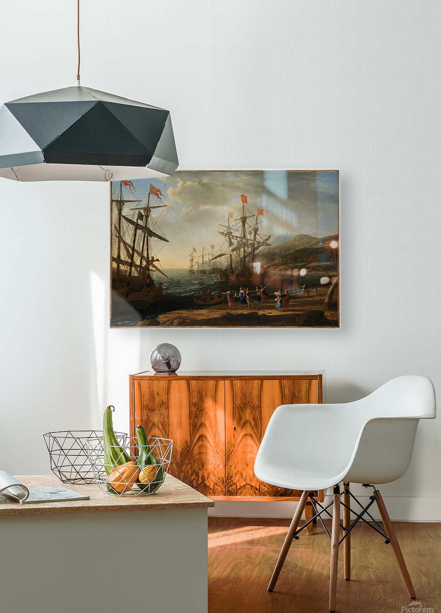 The Trojan Women Setting Fire to Their Fleet  HD Metal print with Floating Frame on Back