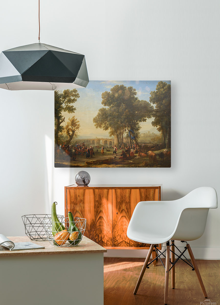 Fete villageoise  HD Metal print with Floating Frame on Back