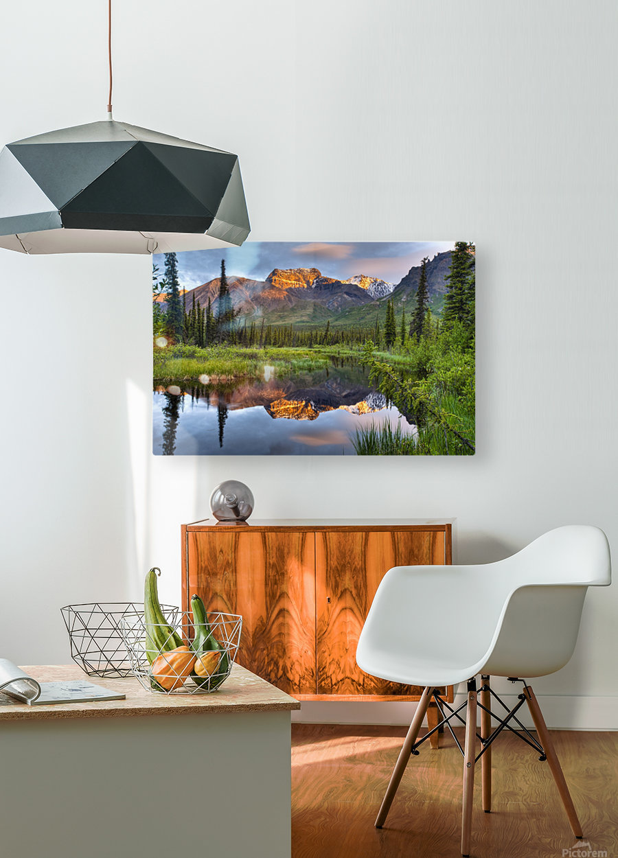 Reflection Of Skookum Volcano  HD Metal print with Floating Frame on Back