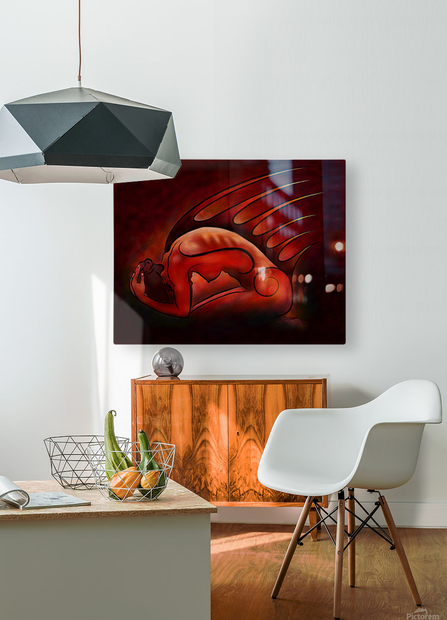 Hessanisa V1 - the martian lady  HD Metal print with Floating Frame on Back