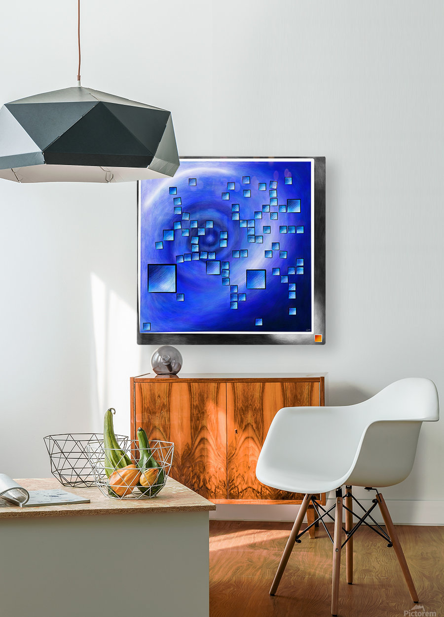 Nepheros V1 - planet square  HD Metal print with Floating Frame on Back