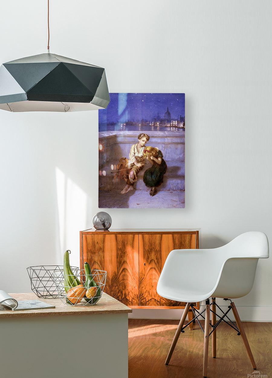 Comforitng a crying girl  HD Metal print with Floating Frame on Back