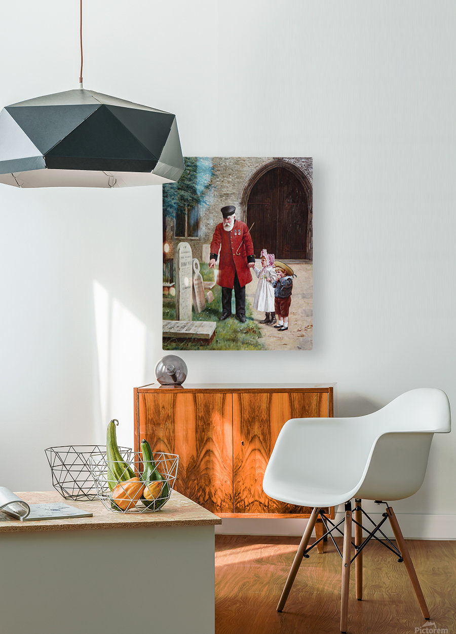 A walk with Grandpa  HD Metal print with Floating Frame on Back
