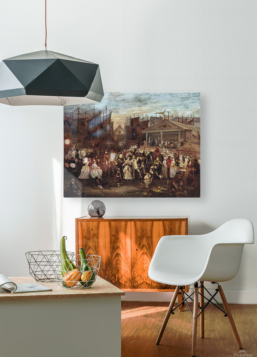 Greenwich fair  HD Metal print with Floating Frame on Back