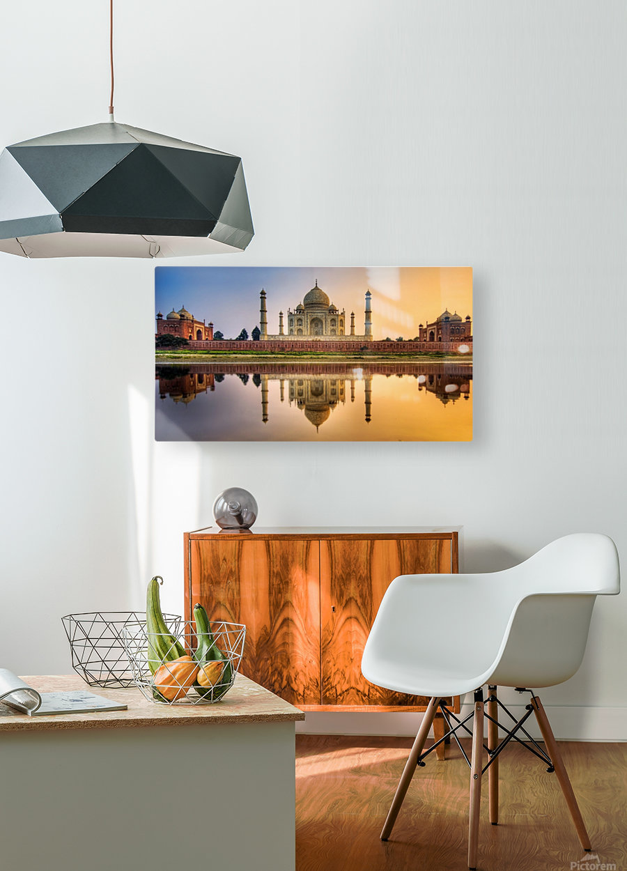 Visit India  HD Metal print with Floating Frame on Back