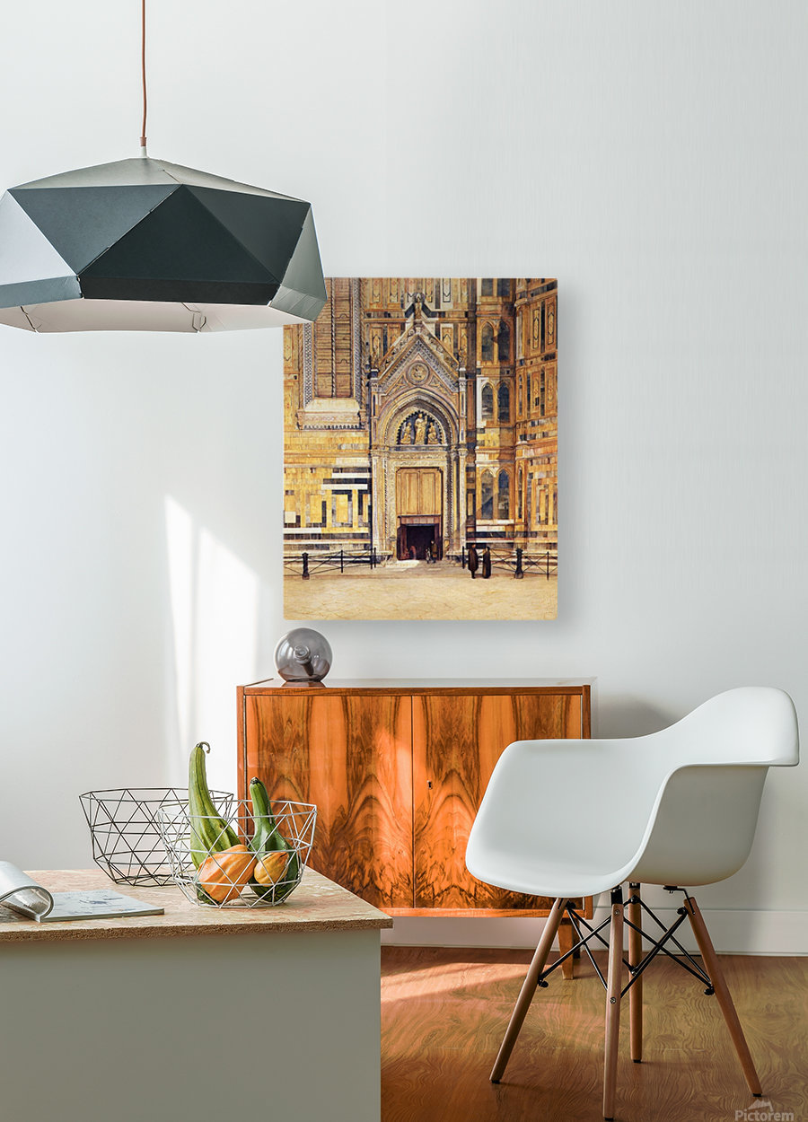 The South Door of the Duomo 1881  HD Metal print with Floating Frame on Back