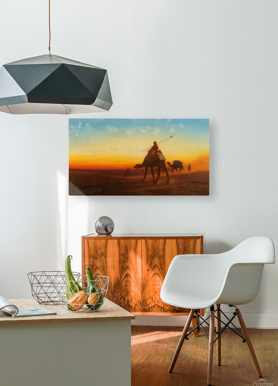 Caravanne au Couche-Sol  HD Metal print with Floating Frame on Back