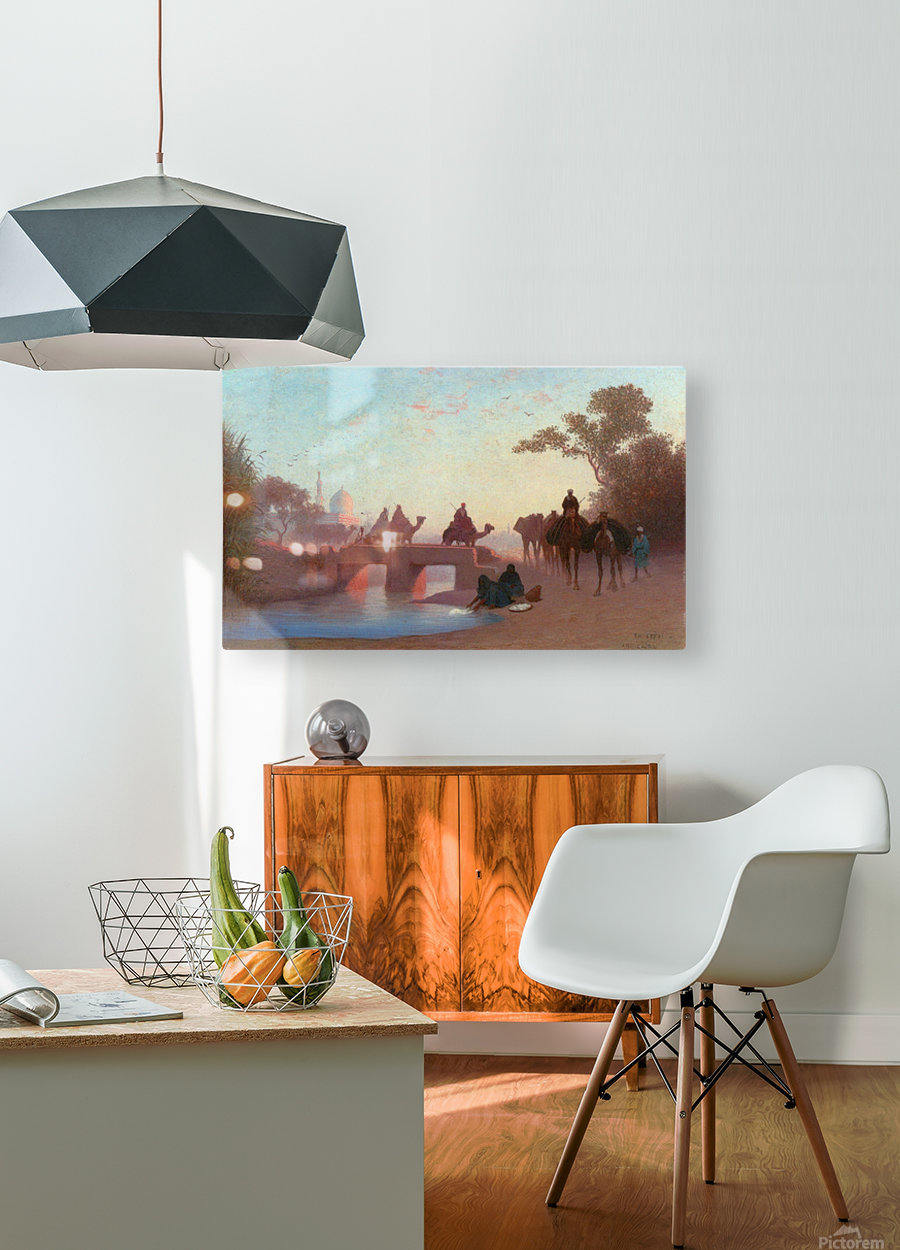 Environs du Caire  HD Metal print with Floating Frame on Back