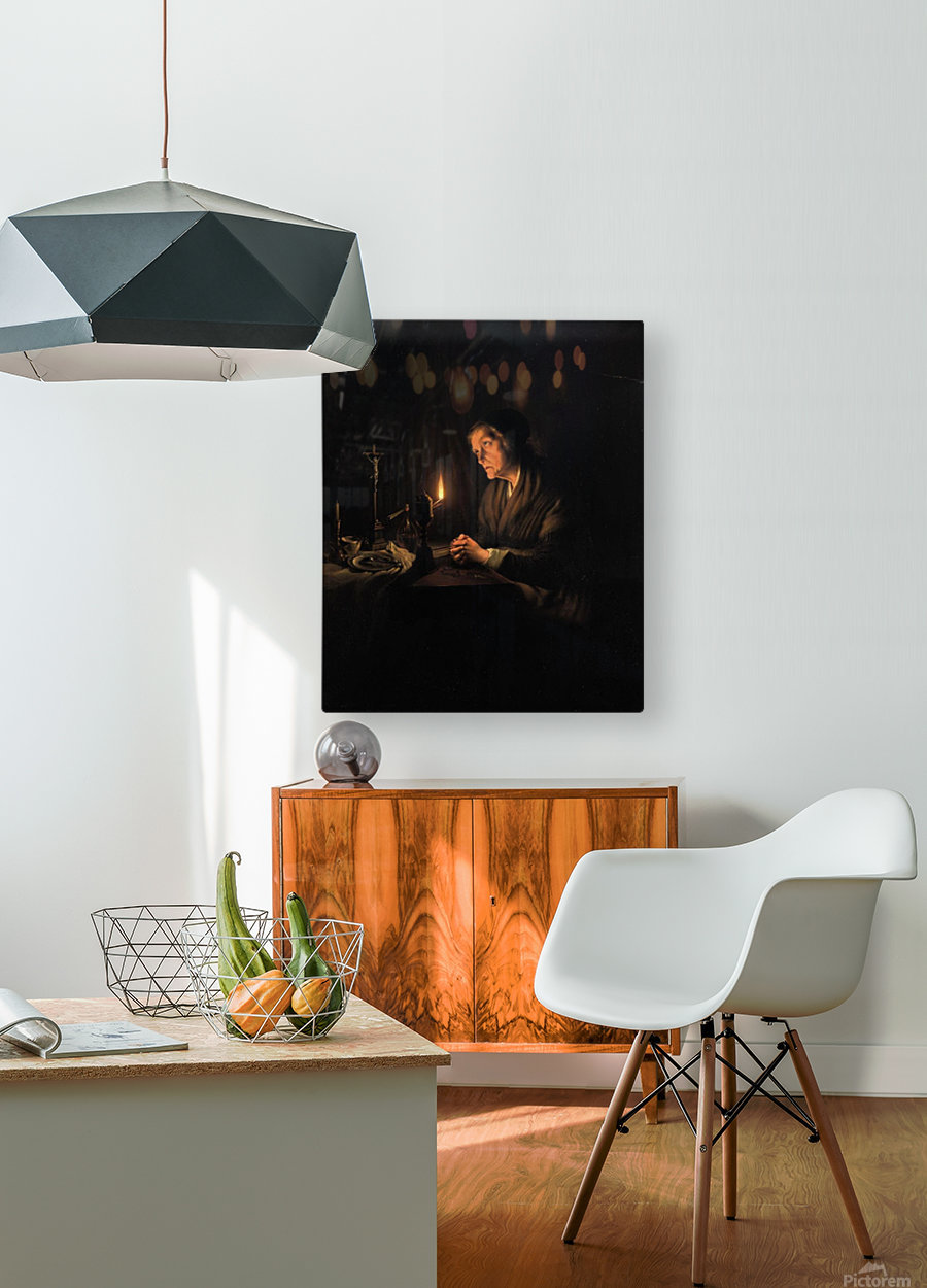 The evening prayer  HD Metal print with Floating Frame on Back