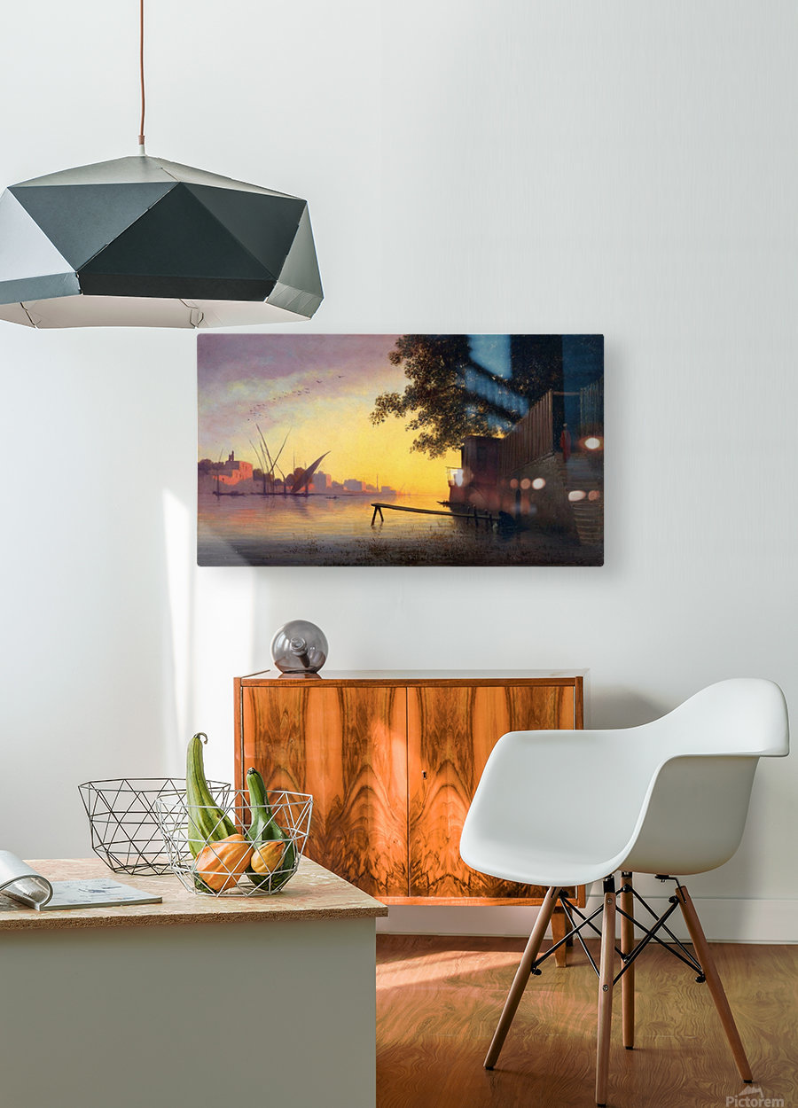 Evening on the Nile  HD Metal print with Floating Frame on Back